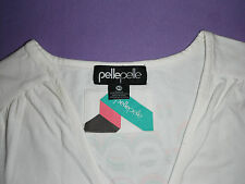 Shirt PELLE PELLE  XS Top T-Shirt Gold w. neu Ausschnitt Gogo Sexy Skater  34