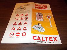 "1964 Caltex ""Driving Abroad"" 32-Page Fingertip Facts Booklet"