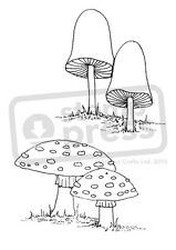 A7 'Mushrooms' Unmounted Rubber Stamp (SP000416)