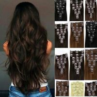 Hair Extension Full Head 8pc and Half Head 1pc Clip In blonde brown feels Human