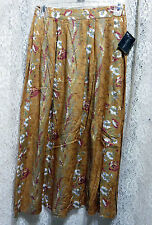 LIBERTY FASHIONS NWT LONG FULL COPPER MULTICOLOR FLORAL SKIRT SIZE 10