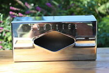 Vintage Scotties Tissue  Box Cover Wall Mount Art Deco  Chrome Stainless Steel