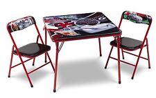 DISNEY Cars per bambini tavolo in metallo e due sedie Set Bambini Camera Da Letto Stanza Dei Giochi