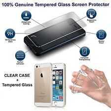 iPhone 6 6s Case Cover Ultra Thin Clear with Tempered Glass Screen Protector