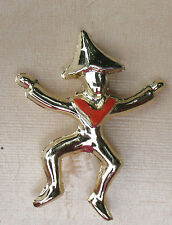 BROWNIE 1960s Girl Scout SCATTER PIN, GOLD PLATE Leader or Collector's GIFT
