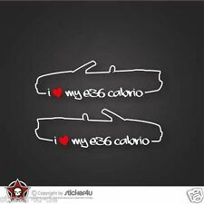 (695) 2x i love my BMW e36 Cabrio Sticker Adesivi Stickerbomb m3 Motorsport