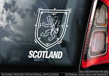 Scotland - Car Window Sticker - Royal Standard Lion Coat of Arms Rugby Football