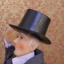Dolls House 12th Scale Black Top Hat plastic