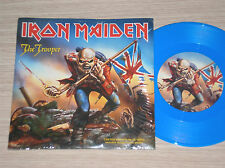 """IRON MAIDEN - THE TROOPER - 45 GIRI 7"""" LIMITED ED. BLUE VINYL WITH POSTER"""