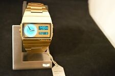 "VESTAL Men's ""MONTE CARLO"" Gold w/Digital & Analog Wristwatch New on Stand"