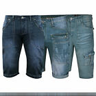 Mens Denim Chino Shorts Pants Cargo Combat Summer Cotton Jeans Designer New