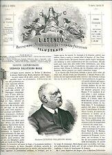 1880 LUDOVICO PALLAVICINO MOSSI Ateneo Illustrato xilograf. Frassineto Po Casale