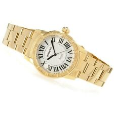 Invicta Womens Angel Royale Diamond Accented 18k Gold Plated SS Watch 14717 NEW