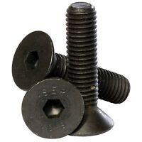 M6 ( 6mm ) High Tensile 10.9 Socket Countersunk Screws Black Self Colour Bolts