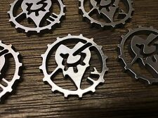 WarHammer Objective Markers - Dark Eldar Cog - Stainless Steel - 30mm