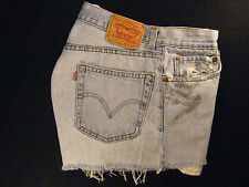 LEVIS Zipper-fly 505 CUTOFF JEANS SHORTS Cut Off W 33 Denim Red Tab HIGH WAISTED
