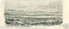 Battle of Gitschin Jičín Czech Prussia Army Battlefield GRAVURE OLD PRINT 1866