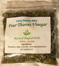 Make your own 4 FOUR THIEVES VINEGAR w/garden-grown herbs,disinfectant,repellent