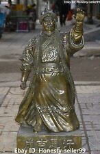 "26"" China Bronze Mongolia Genghis Khan Jenghiz Khan Chinggis Khaan People Statue"