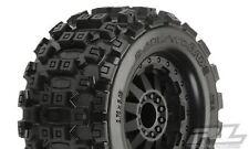 """Proline Badland Mx28 2.8"""" Tires & F-11 Black Wheels, E Rustler/Stampede Rear"""