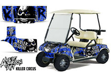 Club Car Golf Cart Wrap Graphics Vinyl Sticker Decal Kit 1983-2014 CIRCUS BLUE