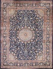 Breathtaking Hand Knotted Navy Blue Wool 10x13 Kashmar Persian Oriental Area Rug