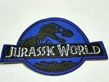 Jurassic World blue embroidered patch