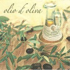 4 Serviettes en papier Huile d'olive Decoupage Paper Napkins Olive Oil