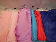 Soft Polyester Satin dress lining fabric 150cm wide. Per Meter. Various colours