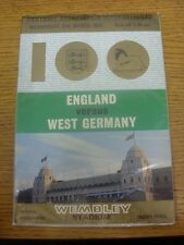 12/03/1975 Jack Wiseman Programme (higher quality paper): England v Germany [At