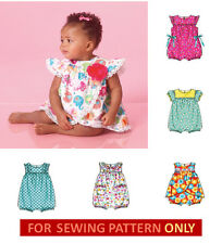 SEWING PATTERN! MAKE BABY GIRL ROMPERS! 6 STYLES! SUMMER CLOTHES! 5 SIZES