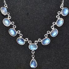 Rainbow Moonstone Necklaces 925 Sterling SILVER Necklace New Handmade Jewellery