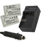 2 x NB-7L NB7L Battery + Charger for Canon Powershot G10 G-10 G11 G12 SX30 IS