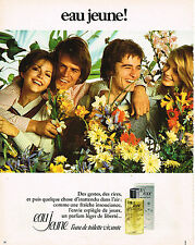 PUBLICITE ADVERTISING 024   1973   EAU JEUNE     eau de toilette