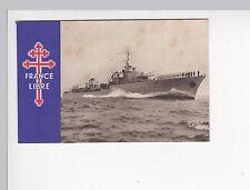 cpa carte postale FRANCE LIBRE Forces Navales LE TRIOMPHANT bateau militaire