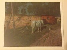 ORIGINAL 1903 'THE STUDIO' OIL PAINTING ' THE VAGABONDS HORSE ' BY FRITZ THAULOW