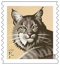 USPS New 1-cent Bobcat Stamp Roll of 3,000