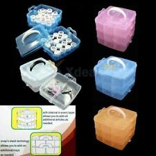 New Portable 3 Layer Multifunctional Nail Care Make Up Jewelry Storage Box Case