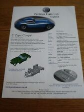 "PROTEUS Cars LIMITED C TIPO COUPE KIT CAR SALES BROCHURE""""/foglio anni 2000???"