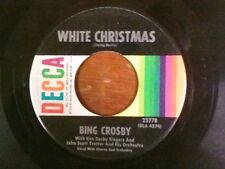 "BING CROSBY 45 RPM ""White Christmas"" ""God Rest Ye Merry Gentlemen"" VG condition"