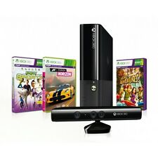 Xbox 360 E 4gb Console w/ Kinect & 3 games (Forza Horizon, x2 Kinect games)-NEW