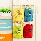 5PCS Cute New Wall Hanging Storage Organizer Bag Pockets