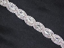 SILVER CLEAR MARQUISE AND ROUND RHINESTONE CRYSTAL BRIDAL PARTY BRACELET