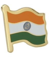 Metal Label Indian Flag Lapel Pins - Gold - Buy One Get One Free (1 + 1 = 2)