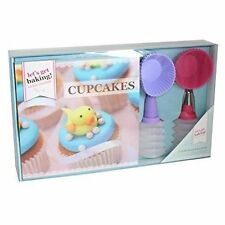 Baking Cupcake Recipe Book Accessories Gift Set Kitchen Moulds Tea Squeeze Kit