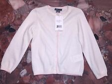 NWT $78 Vince Baby Girl Ivory White Pink Cardigan Button Down Toddler Sweater 2T