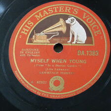 78rpm LAWRENCE TIBBETT myself when young / none but the lonely heart , tchaikows