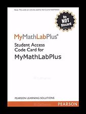 My Math Lab  Plus  Student Access Code Card by Pearson - Please Read Description