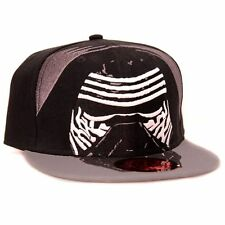 OFFICIAL STAR WARS THE FORCE AWAKENS KYLO MASK COSTUME BLACK SNAPBACK CAP HAT
