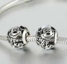 MICKEY is a CHEF for Parks  .925 Sterling Silver European Charm Bead